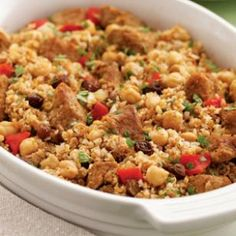 Moroccan Bulgur & Pork Casserole Recipe