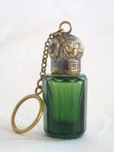 Antiguo Francés Botella Miniatura Chatelaine Perfume Aroma Circa 1880 | eBay