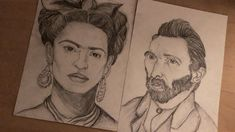#drawing #sketch #fridakahlo #vincentvangogh #inspiration #art
