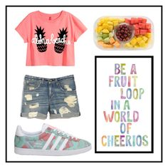 """#77 fruit"" by xjet1998x ❤ liked on Polyvore featuring moda, H&M, rag & bone y adidas"