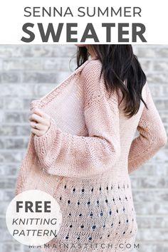 Summer Knitting, Easy Knitting, Sweater Knitting Patterns, Knit Patterns, Clothing Patterns, Summer Sweaters, Knit Sweaters, Cardigans, Oversized Sweaters