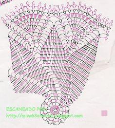 miva y sus pañitos....: PAÑITOS: NAVIDAD Crochet Doily Diagram, Crochet Doily Patterns, Filet Crochet, Crochet Doilies, Crochet Books, Crochet Art, Crochet Round, Thread Crochet, Magic Symbols