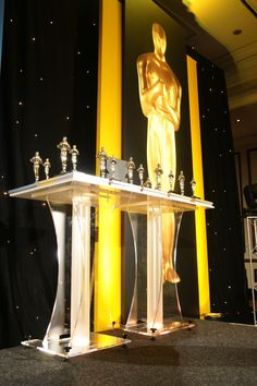 Our very large Oscars look great for a Hollywood themed awards evening. www.istead.co.uk #events #conference #agm #dinner #gala #galadinner #theme #eventservices #eventprofessionals #AV #audiovisual #multimedia #design #eventproduction #Hollywood #theme #themedevent #oscars Hollywood Theme, Gala Dinner, Event Services, Presentation Design, Oscars, Multimedia, Event Planning, Conference, Looks Great