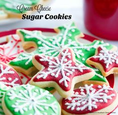 Add these Cutout Cream Cheese Sugar Cookies to your holiday baking plans #christmascookies #sugarcookies #bestsugarcookies #creamcheesecookies #cookierecipes #holidayrecipes #holidaybaking #creamcheesecookies #holidays #cookieswap #desserts #dessertfoodrecipes #southernrecipes #southernfood #melissassouthernstylekitchen Cream Cheese Sugar Cookies, Easy Sugar Cookies, Christmas Sugar Cookies, Sugar Cookies Recipe, Fun Cookies, Christmas Baking, Holiday Baking, Cookie Exchange Party, Christmas Cookie Exchange