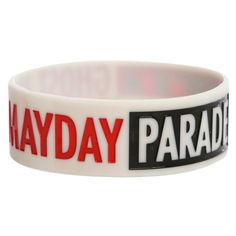 Mayday Parade Ghost Rubber Bracelet   Hot Topic ($1) ❤ liked on Polyvore featuring jewelry, bracelets, 27. bracelets & watches., accessories, accessories and jewelry, rubber jewelry, bracelet jewelry, rubber bracelet, bracelet bangle and rubber bangles