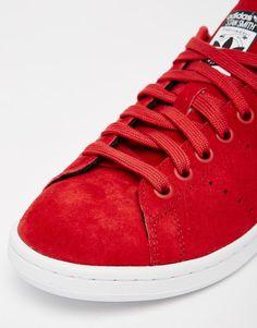 Image 4 of adidas Originals X Rita Ora Red Stan Smith Sneakers
