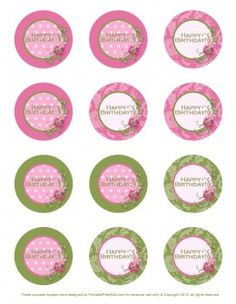 cupcakes toppers printables free - Buscar con Google