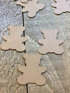 Brown Teddy Bear Table Confetti / Baby Shower Party / Birth