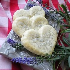 """Lavendar Shortbread Cookies 