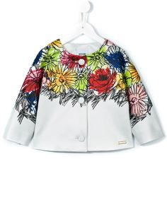 Moschino Kids flower print jacket
