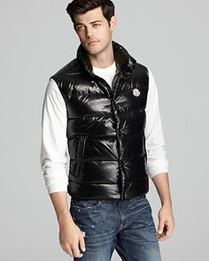 """""""Moncler Shiny Tib Vest   Bloomingdale's...""""  Forget about the vest....look at his extremely attractive face!"""