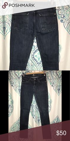 "7 For All Mankind jeans 7 For All Mankind ""roxanne"" skinny jeans (dark wash) 7 For All Mankind Jeans Skinny"