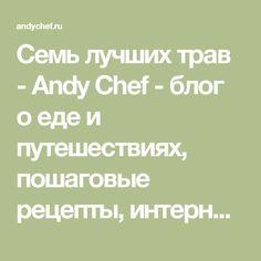 Семь лучших трав - Andy Chef - блог о еде и путешествиях, пошаговые рецепты, интернет-магазин для кондитеров