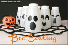 How to make a recycled bottle Halloween bowling pin set · Recycled Crafts | CraftGossip.com