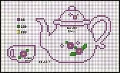 This Pin was discovered by Ser Cross Stitch Kitchen, Mini Cross Stitch, Cross Stitch Heart, Simple Cross Stitch, Cross Stitch Kits, Modern Cross Stitch Patterns, Cross Stitch Designs, Cross Stitching, Cross Stitch Embroidery