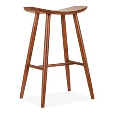 A cool addition to your breakfast bar, counter or kitchen island, this Hatton wooden bar stool in walnut gives a burst of Scandinavian style to a room.  Defined by a smooth saddle seat and tapered legs, this modern stool makes the ideal bar furniture for everyday meals with the family or catching up with friends over a drink.  Pick from three versatile colours and, if you're looking for something a little lower, don't miss our matching 45cm version. Complete your cooki