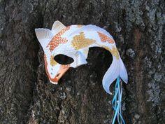 Liquid Grace  Leather Japanese Carp Koi Mask Masque by draikairion, $80.00