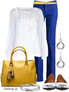 """Coach Yellow Handbag"" by kimberly-lp on Polyvore"