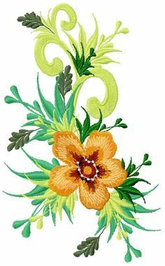 Flower free embroidery design 46 - Flowers free machine embroidery designs - Machine embroidery community