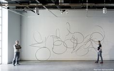 Dee Briggs beautiful fluid sculptures; three dimensional calligraphy in space.