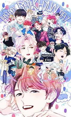 Cookie from exo team مسروقه ° ^ °. I want members of exo teams with anime pictures for each of them to distinguish them . Can you help me to distinguish them Chanbaek, Exo Ot12, Baekhyun Fanart, Chanyeol Baekhyun, Bts E Got7, Bts And Exo, Kpop Exo, K Pop, Exo Birthdays