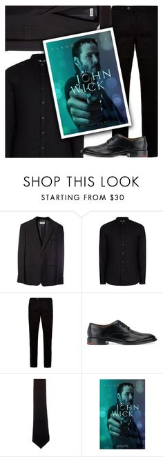 """""""30/50: John Wick (2014)"""" by megan-vanwinkle ❤ liked on Polyvore featuring Yves Saint Laurent, Topman, Ted Baker, Givenchy, Alexander Olch, men's fashion, menswear and polyvoreeditorial"""