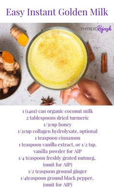 This rich and delicious Golden Milk mixture is easy to prepare, and makes whipping up a cup easier than ever. No pot scrubbing required. Golden Milk Paste, Golden Milk Tea, Milk Recipes, Baby Food Recipes, Organic Coconut Milk, Turmeric Milk, Food Trays, Best Diet Plan, Diet And Nutrition