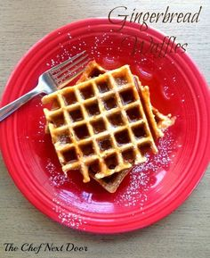 The Chef Next Door: Gingerbread Waffles #holidayrecipes