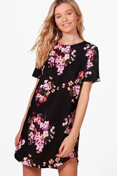 7df4ace5e390 Willow Floral Printed Shift Dress Stil Inspiration