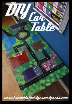 DIY Car table  www.createontheedge.wordpress.com  by LSS