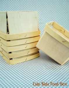 Berry Basket  Wood PINT SIZE Berry Basket  Set by CUTEKIDSFOODBOX, $6.75