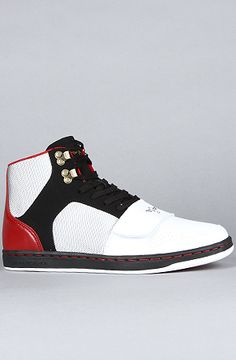 The Cesario Sneaker in Black, White, & Red by Creative Recreation at karmaloop.com