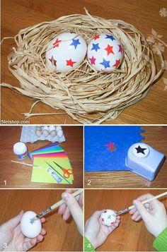 Easter decoration - Egg with stars (Húsvéti dekoráció - csillagos tojás)