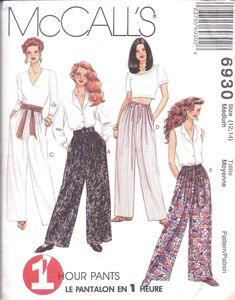Vintage Sewing Patterns Misses' Pants Sewing Pattern. - Misses' Pants Sewing Pattern. Mccalls Sewing Patterns, Vintage Sewing Patterns, Retro Pattern, Dress Patterns, Pattern Sewing, Clothes Patterns, Vintage Outfits, Vintage Fashion, Retro Mode