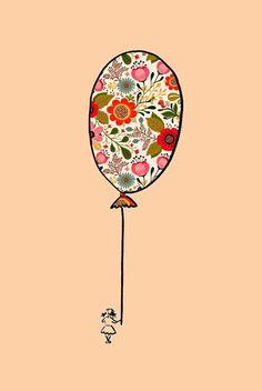 Aplique en forma de globo. Ideal para reparar los pantalones de niños y niñas.