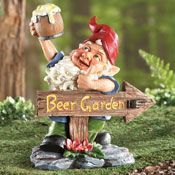 Beer Garden Gnome Lawn Ornament   Cheers Is In Order For This Whimsical  Garden Gnome. Heu0027s A Must Have For Any Gardener, Especially If You Like  BEER.