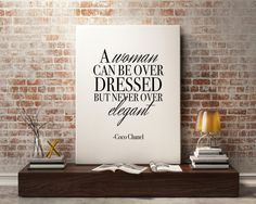 New to StyleScoutDesign on Etsy: Coco Chanel quote Fashion poster fashion prints Fashion wall art - Elegant (5.44 USD)