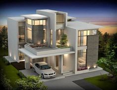 Modern contemporary house architecture in 2019 Best modern house design, Luxury house plans Modern Contemporary Homes, Contemporary Building, Interior Modern, Modern Homes, Modern Mansion, Modern Luxury, Luxury House Plans, Modern House Plans, Best Modern House Design