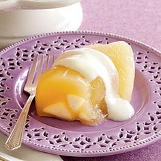 Learn how to make Pear Gelatin with Yogurt Topping. MyRecipes has tested recipes and videos to help you be a better cook. Gelatin Recipes, Jello Recipes, Pear Recipes, My Recipes, Bread Bar, Canned Pears, Pear Fruit, Vanilla Yogurt, Dessert Bread