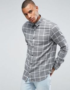 Selected Homme Check Shirt in Regular Fit Brushed Cotton