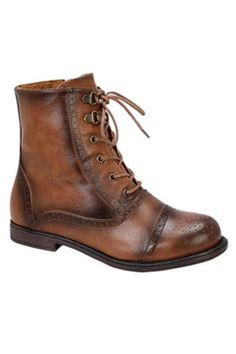 blossom Cana-26 Lace-Up Oxford Bootie in Cognac - Beyond the Rack