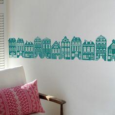 muursticker amsterdamse huisjes - Google zoeken