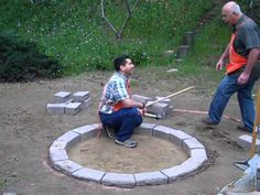 Coach Dave and Foodie Ken, project experts from our How-To Community, show you how to build a fire pit in your backyard.