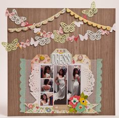 Gallery Projects - Scrapbooking - Traditional - Two Peas in a Bucket Wedding Scrapbook Pages, Scrapbook Albums, Scrapbook Cards, Scrapbooking 101, Scrapbook Paper Crafts, Crate Paper, Wedding Album, Dress Wedding, Scrapbook Sketches