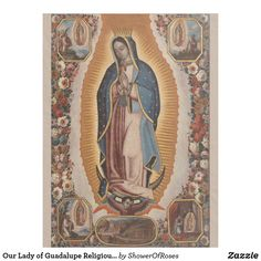 Shop Our Lady of Guadalupe Religious Catholic Mexico Fleece Blanket created by ShowerOfRoses.