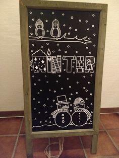 Handlettering Winter - Chalk - HoMe Chalkboard Doodles, Chalkboard Print, Chalkboard Drawings, Chalkboard Lettering, Chalkboard Designs, Chalk Drawings, Hand Lettering, Chalkboard Ideas, Wort Collage