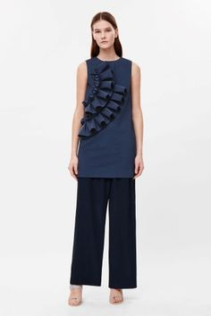 Dress with scuba frill