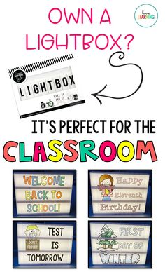 A Teacher Light Box is a great way to display a number of different messages in your classroom. I use these Light Box slides throughout the school year for reminders, inspiration, holidays, and to welcome students at the beginning of the year. This resource includes a variety of slides that can be used throughout the school year. It includes an editable file!