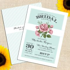 Love Sprout Bridal Shower Invitation DIY PRINTABLE.  Really like this layout for any kind of invitation.