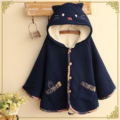 """Kawaii cats hooded cloak coat Cute Kawaii Harajuku Fashion Clothing & Accessories Website. Sponsorship Review & Affiliate Program opening! cute fashion,want it use this coupon code """"pinscute"""" to get all 10% off shop now for lowest price."""
